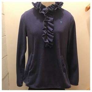 Lily Pulitzer half zip ruffled fleece. Size Med.